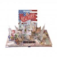 «Путешествие. Нью-Йорк» книга-панорама на английском. Дженни Майзелс