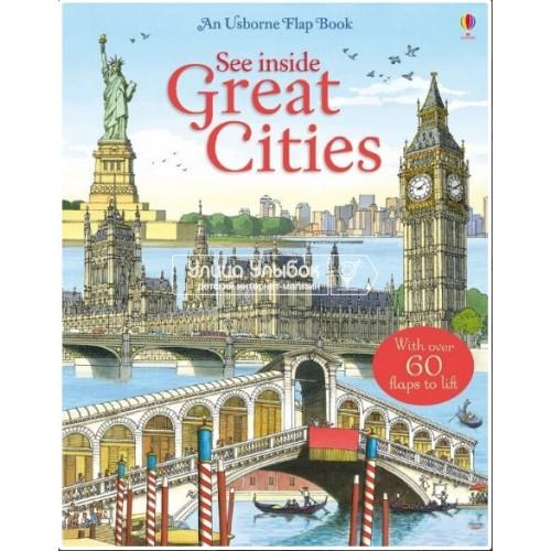 «Великие города» книга с окошками на английском Джонса Роб Ллойда