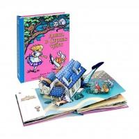 «Алиса в стране чудес» книга-панорама на русском. Роберт Сабуда