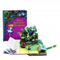 «Алиса в стране чудес» книга-панорама на английском дискаунт Роберт Сабуды
