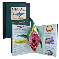«Акулы и другие морские чудища: Энциклопедия древностей» книга-панорама на английском Роберта Сабуды, Мэттью Рейнхарта