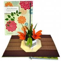 «Букеты цветов на все случаи жизни. Украшение интерьера» книга-панорама без текста. Рэй Маршалл
