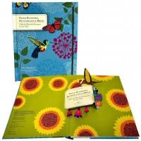 «Букеты цветов, бабочки и птицы. Украшение интерьера» книга-панорама без текста. Рэй Маршалл