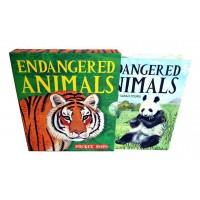 «Исчезающие животные» книга-гармошка на английском. Сара Янг
