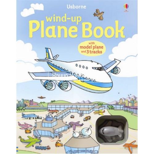 «Самолет. Игрушка с заводом, дорожки. Серия Wind-up» книга-панорама на английском Джилл Доэрти