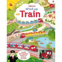 «Быстрый поезд. Игрушка с заводом, дорожки. Серия Wind-up» книга-панорама на английском Фионы Уотт