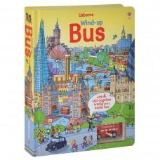 «Лондонский автобус. Игрушка с заводом, дорожки. Серия Wind-up» книга-панорама на английском дискаунт Фионы Уотт