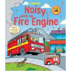 «Пожарная машина Игрушка с заводом, дорожки. Серия Wind-up» книга-панорама на английском Сэма Таплина