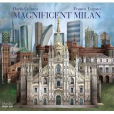«Милан. Виды прошлого и настоящего» книга-панорама на английском Франка Лугато, Дарио Сестаро