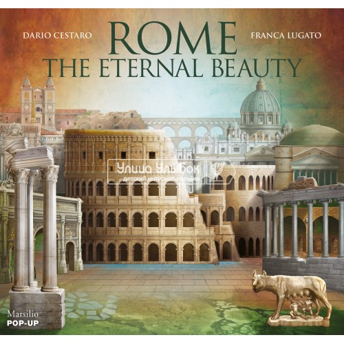 «Рим. Вечно прекрасный город» книга-панорама на английском Дарио Сестаро