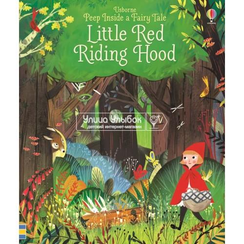 «Красная шапочка. Окно в сказку» книга с окошками на английском Анны Милборн, Джулии Сарды
