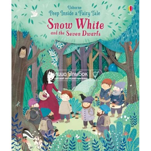 «Белоснежка и семь гномов. Окно в сказку» книга-панорама на английском Сюзанны Дэвидсон, Джессики Найт