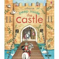 «Что внутри замка. Для самых маленьких» книга с окошками на английском Анны Милборн, Феличиты Сала