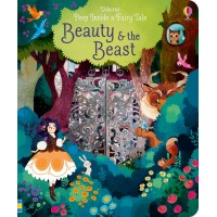 «Красавица и чудовище. Окно в сказку» книга с окошками на английском Лорены Альварес, Анны Милборн