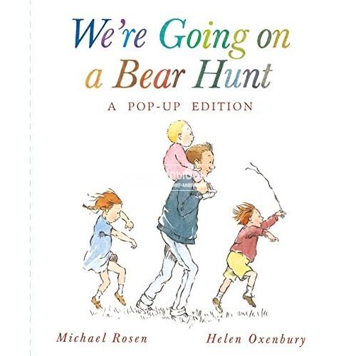 «Идем ловить медведя» книга-панорама на английском. Майкл Розен,Хелен Оксенбери