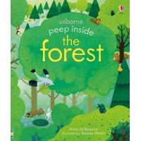 «Что в лесу. Для самых маленьких» книга с окошками на английском Анны Милборн, Симоны Димитри