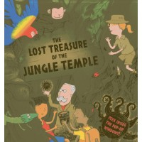«Затерянные сокровища в храме джунглей. Сборник рассказов» книга-панорама на английском Дерин Тейлор, Тима Хатчинсон