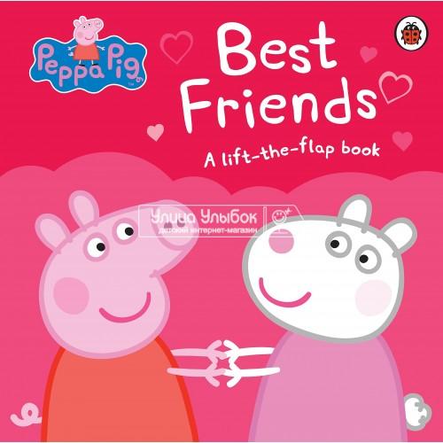 «Свинка Пеппа и лучшие друзья» книга с окошками на английском