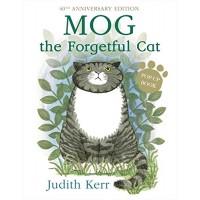 «Забывчивая кошка Мог. (Рассеянная Мяули)» книга-панорама на английском Джудит Керр