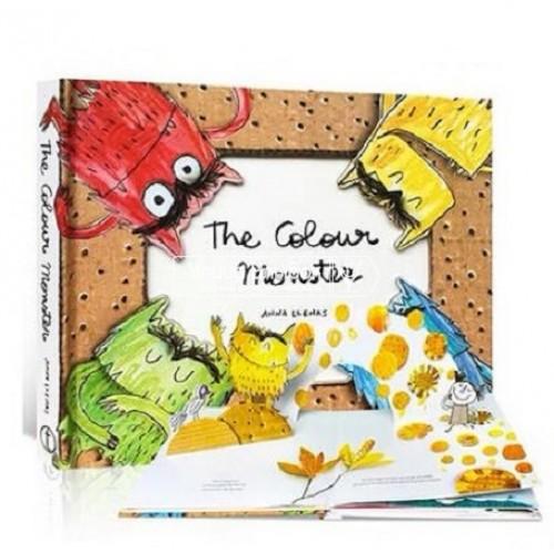 «Разноцветный монстрик. Pop up книга» книга-панорама на английском Анна Лленас