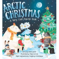 «Рождество в Арктике. Очень холодная pop up книга» книга-панорама на английском Евгения Ерецкая