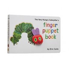 «Очень голодная гусеница. Книга с пальчиковой игрушкой» книга-панорама на английском