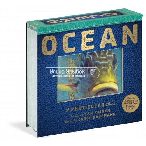 «Океан. 3D кадры. Фотикулярная книга» на английском  Дэн Кайнен