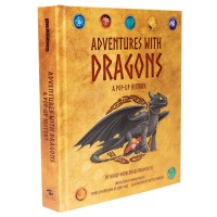«Как приручить дракона» книга-панорама на английском. Джеймс Диас